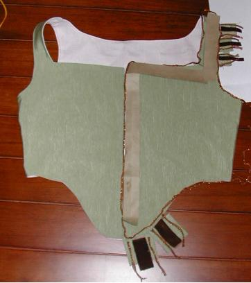 Bodice with sample trim