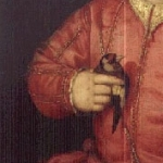 Detail of Giovanni de Medici, 1543, by Bronzino